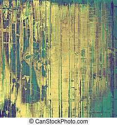Aged grunge texture. With different color patterns: yellow...