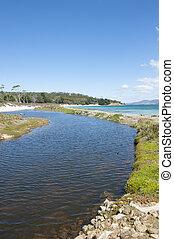 Maria Island Tasmania wilderness coast - Ocean Beach and...