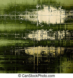 Abstract grunge background of old texture. With different color patterns: yellow (beige); green; white; black