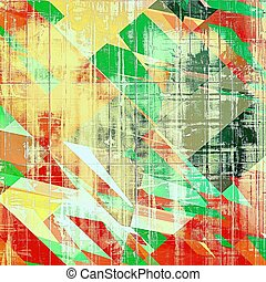 Abstract grunge background of old texture. With different color patterns: yellow (beige); brown; red (orange); green