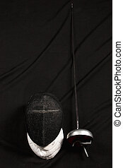 The fencing mask and rapier