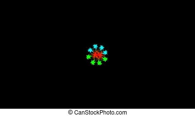 abstraction intersection of line source snowflake -...