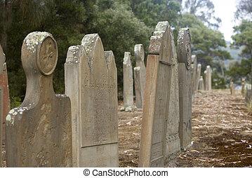 Isle of Deads Port Arthur Tasmania Australia - Historic...