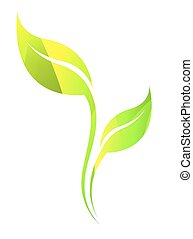 Vector stylized silhouette of leaf - Vector stylized...