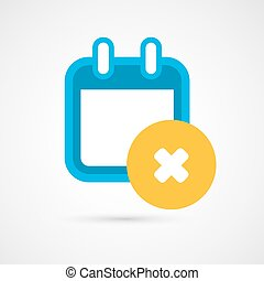 Vector Calendar Icon - delete