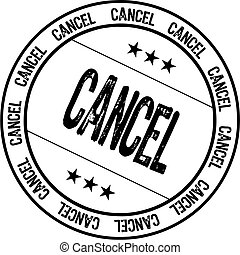 cancel rubber stamp