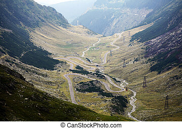 Mountain road - A twisty road up in the Romanian Carpathian...
