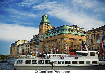 Stockholm city view - View of the famous scandinavian and...