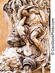 Palacio del Marques de Dos Aguas - Alabaster carving on the...