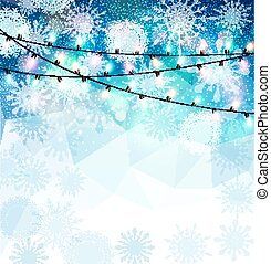 festive blue background