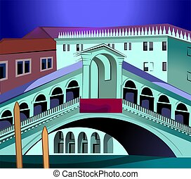 Grand canal - Illustration of grand canal in Italy