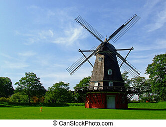 Danish Mill - This is a windmill at Kastellet in the centre...