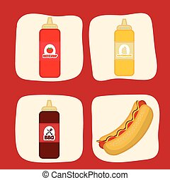 Fast food icons design - Fast food concept with menu icons...