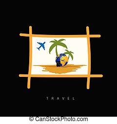 viaje,  vector, colorido, señal