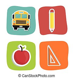 Education icons design - Education concept with school icons...