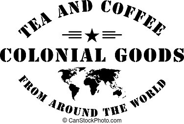 Colonial goods stamp stigma - Colonial goods from around the...