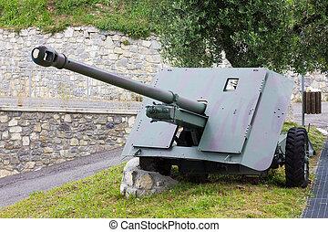 cañón, artillería,