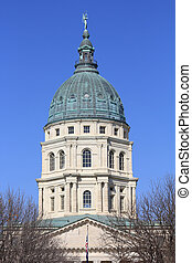 Kansas State Capitol Building Dome - The Kansas State...