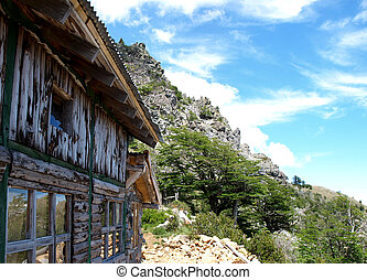 mountain hut - ountain hut in the andes