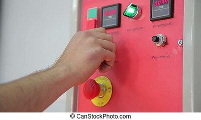 Engineer regulates the machine parameters of digital HD