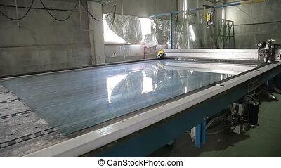 A modern machine for cutting glass HD