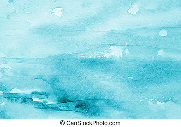 Abstract watercolor background on paper texture - Abstract...
