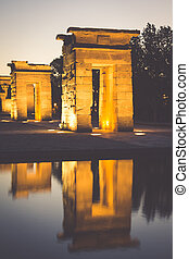 Temple of Debod at night, Madrid Spain