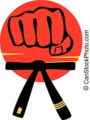 karate mma power strong fist logo - taekwondo karate mma...
