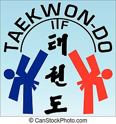 taekwondo karate fighting scene - taekwondo karate fight...