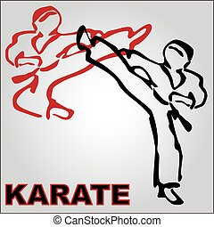 karate kumite fighting scene