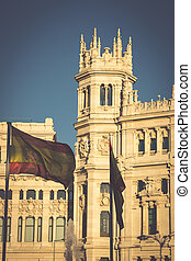Cibeles Palace is the most prominent of the buildings at the...