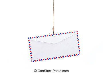 Airmail Phishing, letter on a Fishing hook