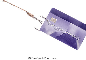 Credit Card Theft, on white background