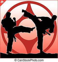 karate kyokushinkai-kan kanji logo - karate kyokushinkai...