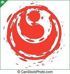 karate shinkyokushinkai Kokoro kanji logo simbol design...