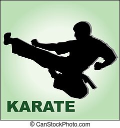 kickboxing karate fighter high kick - kickboxing karate...