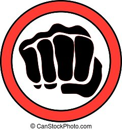 martial arts mma power fist logo