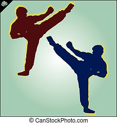 kickboxing karate fighter high kick