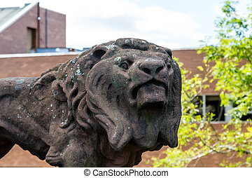 Old Stone Lion - An Old Stone Lion in Charlottetown, Canada