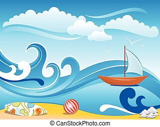 abstract artistic wave backgroundeps - abstract artistic...