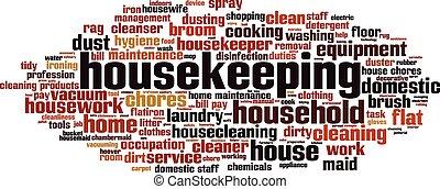 Housekeeping-horizon Convertedeps - Housekeeping word cloud...