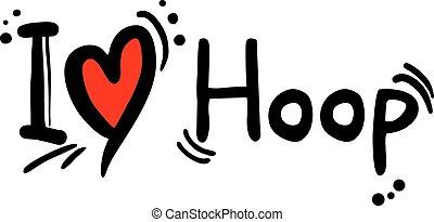 Hoop love - Creative design of Hoop love