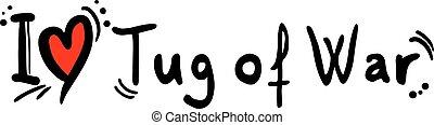 Tug of War love - Creative design of Tug of War love
