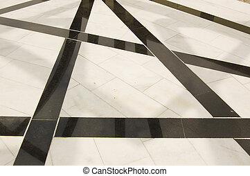 Black & white floor