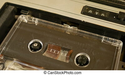Old retro compact cassette vintage audio recorder - Old...