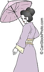 geisha illustration - Creative design of geisha illustration