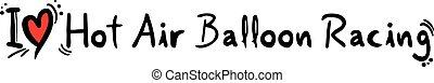Hot Air Balloon love - Creative design of Hot Air Balloon...