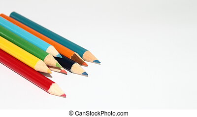 Crayons - Nine colored crayons