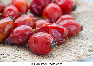 Drying Wild rose hip fruit