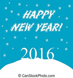 Happy New Year. 2016. Winter background. Vector illustration